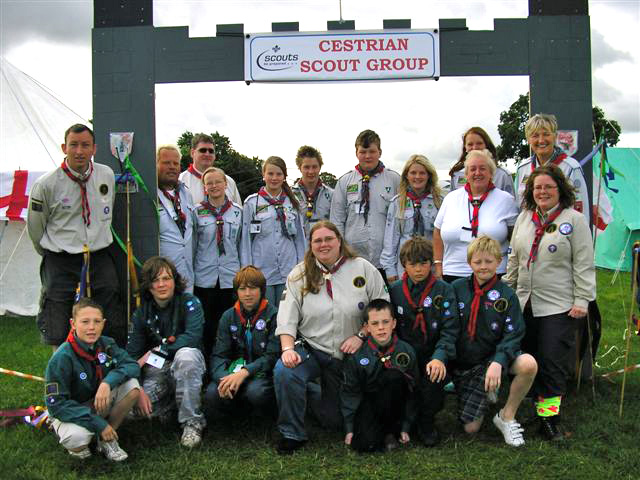 cestrian scout group with norwegian scouts at chamboree 2010